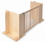 Birch Laminate Room Divider Gate with Durable Hardware and No Sharp Edges [WB1114-FS-WBR]