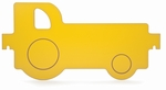 Yellow Melamine Room Divider Tractor Panel [WB1123-FS-WBR]