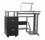 Rothmin Computer Desk with Storage Cabinet - Black and Gray [50-100505-FS-COM]