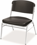 Rough N Ready 350 lb. Capacity Big &#38 Tall Stack Chair - Set of Four - Black [64121-ICE]