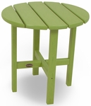 POLYWOOD® Round 18'' Side Table - Vibrant Lime [RST18LI-FS-PD]