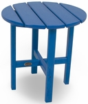 POLYWOOD® Round 18'' Side Table - Vibrant Pacific Blue [RST18PB-FS-PD]