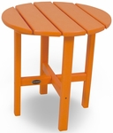 POLYWOOD® Round 18'' Side Table - Vibrant Tangerine [RST18TA-FS-PD]