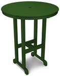POLYWOOD® Round 36'' Bar Table - Green [RBT236GR-FS-PD]