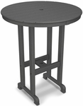 POLYWOOD® Round 36'' Bar Table - Slate Grey [RBT236GY-FS-PD]