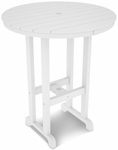 POLYWOOD® Round 36'' Bar Table - White [RBT236WH-FS-PD]