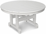 POLYWOOD® Round 36'' Conversation Table - Black [RCT236BL-FS-PD]