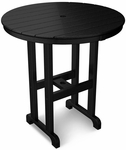 POLYWOOD® Round 36'' Counter Table - Black [RRT236BL-FS-PD]