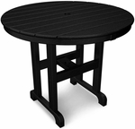 POLYWOOD® Round 36'' Dining Table - Black [RT236BL-FS-PD]