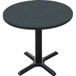 Laminate Top Round Cafe Table with 29''H Cast Iron X-Base - 24'' Diameter [BXT24R-CRL]