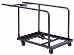 Customizable Edge Load Truck for Round Tables - 30''W x 40''D x 34''H [RT-6072-BKS]