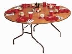 Fixed Height Round High-Pressure .75'' Thick Top Folding Table - 48'' Diameter [CF48PX-CRL]