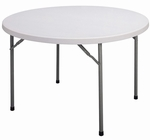 Blow-Molded Plastic Top Round Food Service Table - 48'' Diameter [FS48R-33-CRL]