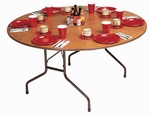 Fixed Height Round High-Pressure .62'' Thick Top Folding Table - 48'' Diameter [CF48P-CRL]