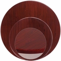 Round Mahogany <font color = blue><b>Resin</b></font> Table Top