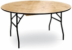 30''H Round Plywood Folding Table with Locking Wishbone Style Legs [70043-MCC]