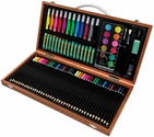 Royal Langnickel Art Adventure Set with Wooden Carrying Case and Assorted Art Supplies - 89 Piece