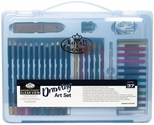 Royal Langnickel Essentials Clear View Large Artcase Drawing Set with Reusable Storage Case and Assorted Art Supplies - 37 Piece