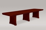 Rue De Lyon 12' Rectangular Conference Table - Ruby Cabernet [7684-144-FS-DMI]
