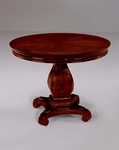 Rue De Lyon 42'' Round Conference Table - Ruby Cabernet [7684-89-FS-DMI]