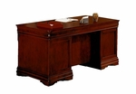 Rue De Lyon 66'' W Executive Desk - Ruby Cabernet [7684-34A-FS-DMI]