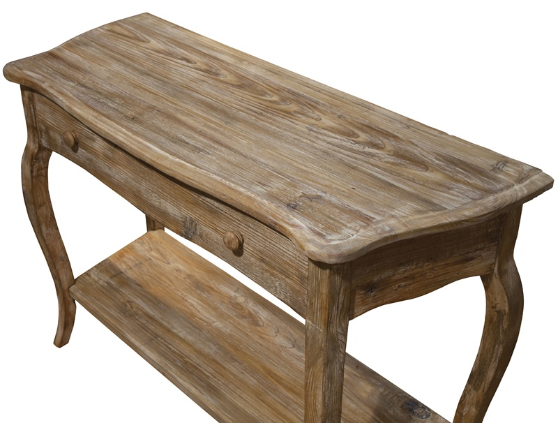 Rustic reclaimed wood w h console table with