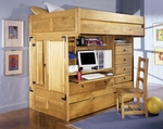 Rustica All in One Bunk Bed w / Chair [836-944-FS-PO]