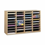 Safco Adjust Organizer -39 3/8'' x 11 3/4'' x 24 -36 Compartment - Med Oak [SAF9424MO-FS-SP]