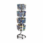Safco Brochure Display Rack -32Compartments -15'' x 15'' x 60'' -CCL [SAF4128CH-FS-SP]