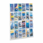 Safco Literature Rack - 24 Pamphlets - 30'' x 2'' x 41'' - Clear [SAF5601CL-FS-SP]