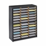 Safco Literature Sorter - 36 Compartments - 32 1/4'' x 13 1/2'' x 38'' - BK [SAF7121BL-FS-SP]