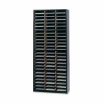 Safco Literature Sorter - 72 Compartments - 32 1/4'' x 13 1/2'' x 75'' - BK [SAF7131BL-FS-SP]
