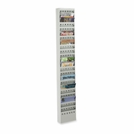 Safco Magazine Rack - 23 Pockets - Steel - 10'' x 4'' x 65 1/2'' - Gray [SAF4322GR-FS-SP]