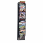 Safco Mesh Magazine Rack -10 Pockets -10 1/4'' x 3 1/2'' x 50 3/4'' -Black [SAF5579BL-FS-SP]