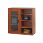 Safco® Apres Single-Door Cabinet w/Shelves - 29-3/4w x 11-3/4d x 29-3/4h - Cherry [SAF9444CY-FS-NAT]