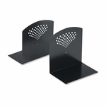 Safco® Bookends - Nonskid - 10 x 6 1/2 x 10 1/2 - Heavy Gauge Steel - Black [SAF3115BL-FS-NAT]