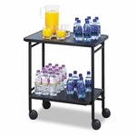 Safco® Folding Office/Beverage Cart - Two-Shelf - 25w x 15d x 30h - Black [SAF8965BL-FS-NAT]
