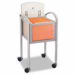 Safco® Impromptu Locking File Cart - 20-1/4w x 21-1/2d x 30-3/4h - Gray/Silver [SAF5374GR-FS-NAT]