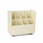 Safco® Laminate Mobile Roll Files - Eight Compartments - 30-1/8 x 15-3/4 x 29-1/4 - Putty [SAF3045-FS-NAT]