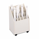 Safco® Laminate Mobile Roll Files - 20 Compartments - 15-1/4w x 13-1/4d x 23-1/4h - Putty [SAF3082-FS-NAT]