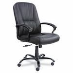 Safco® Serenity Big & Tall Leather Series High-Back Chair - Black Leather [SAF3500BL-FS-NAT]