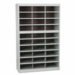 Safco® Steel Project Center Floor Organizer - 30 Pockets - 37 1/2 x 15 3/4 x 60 [SAF9274GR-FS-NAT]