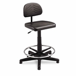 Safco® TaskMaster Series EconoMahogany WorkBench Chair - Black [SAF5110-FS-NAT]