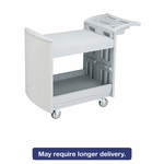 Safco® Utility Cart - Two-Shelf - 45w x 23d x 37-1/4h - Light Gray [SAF5330GR-FS-NAT]