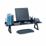Safco® Value Mate Desk Riser - 100-Pound Capacity - 42 x 12 x 8 - Black [SAF3603BL-FS-NAT]