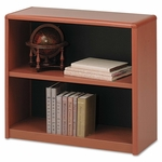 Safco® Value Mate Series Metal Bookcase - Two-Shelf - 31-3/4w x 13-1/2d x 28h - Cherry [SAF7170CY-FS-NAT]