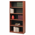 Safco® Value Mate Series Metal Bookcase - Five-Shelf - 31-3/4w x 13-1/2d x 67h - Cherry [SAF7173CY-FS-NAT]