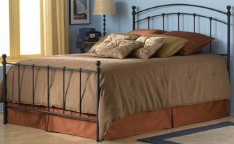 Sanford simple metal bed with frame cal king matte for Furniture mattress outlet of sanford