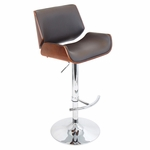 Santi Barstool in Cherry and Brown [BS-JY-SNT-CH-BN-FS-LUMI]