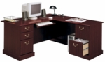 Saratoga Wooden 66 1 W X 30 5 H Executive L Desk With